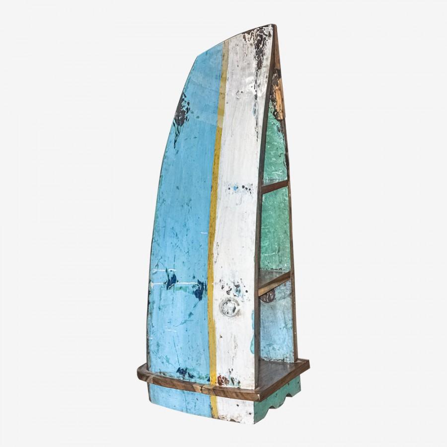 Лодка-стеллаж из тика ПУЭБЛА, малая