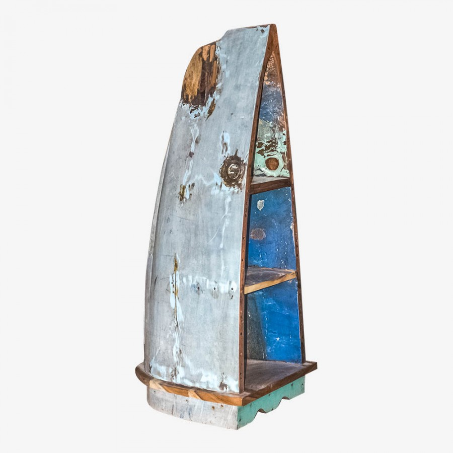 Лодка-стеллаж из тика ТИХУАНА, малая