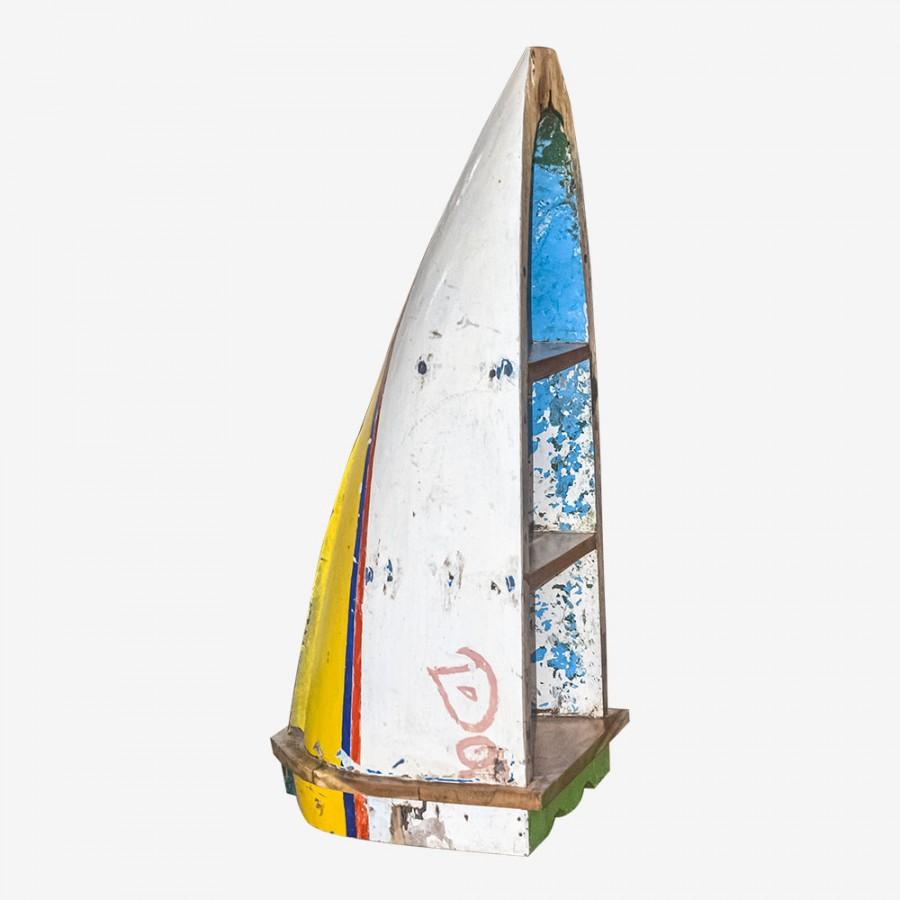 Стеллаж-лодка из тика КАНКУН, малый