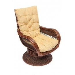 АСУНСЬОН, кресло-качалка из натурального ротанга, античный орех