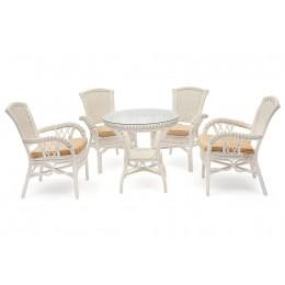 БОГОТА, комплект ротанговой мебели для сада или веранды, белый