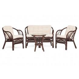 БОЛИВАР, комплект плетеной мебели из ротанга, цвет: грецкий орех