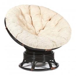 КАЛЬЯО, ротанговое кресло-качалка с бежевой подушкой