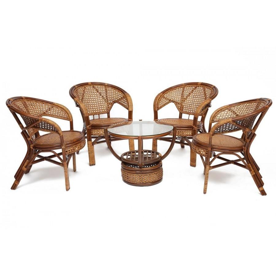 ЛИМА, комплект плетеной мебели из натурального ротанга