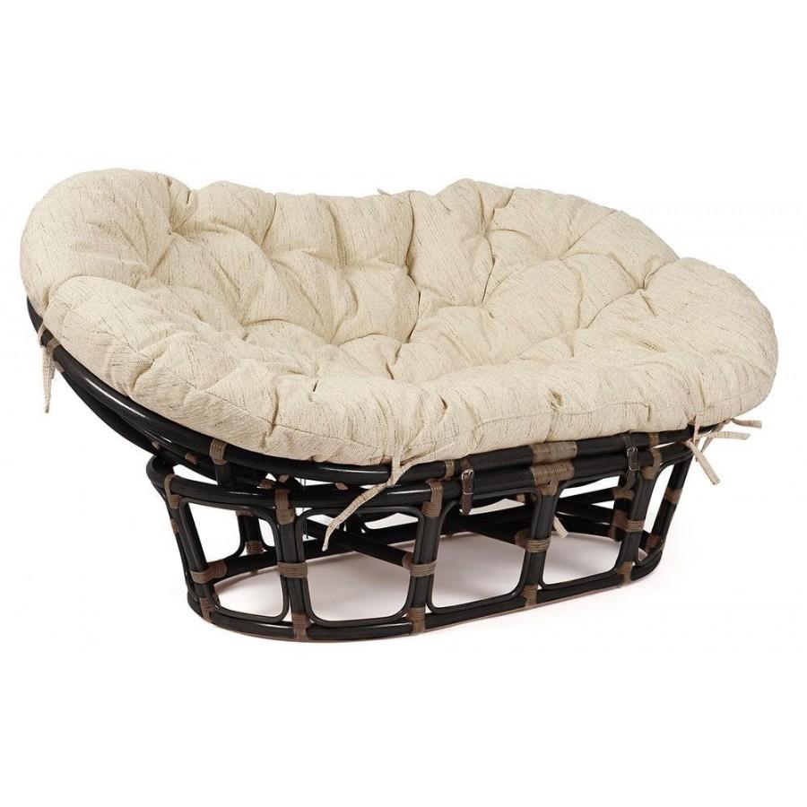 САН-ЛУИС, большое кресло из натурального ротанга, темно-коричневое