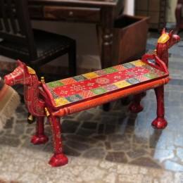 Оригинальный столик-скамья из дерева Rang oont