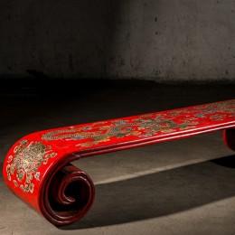 Красный чайный стол