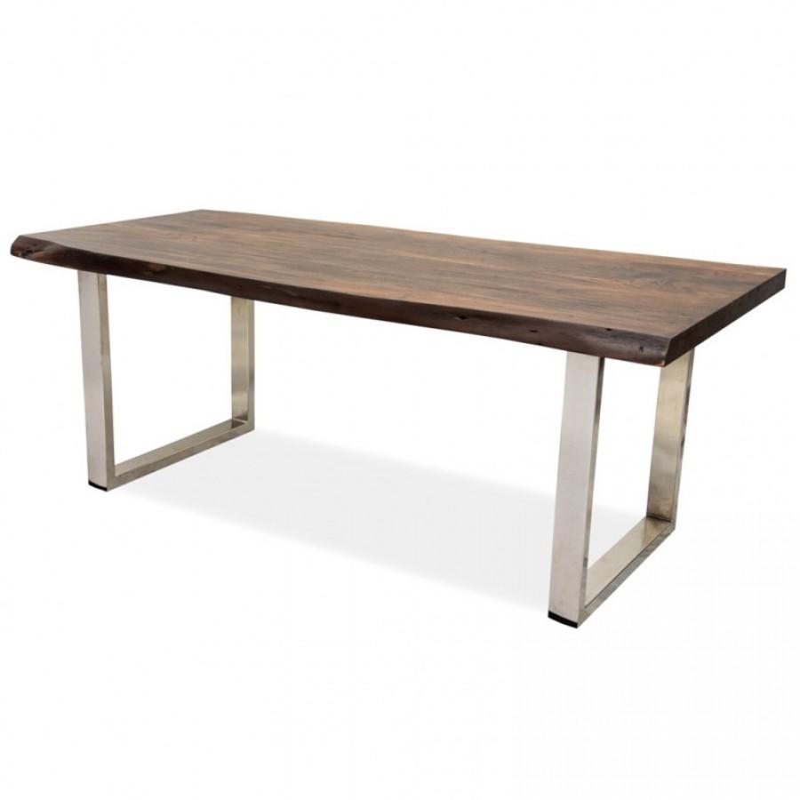 Большой обеденный стол из массива НОРБУ, 2м