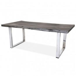 Большой стол из массива в лофт стиле НОРБУ, 2м