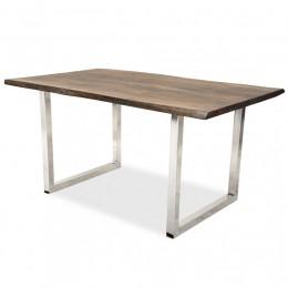 МИМАР, письменный лофт стол из массива в сигарном оттенке, 1,5м