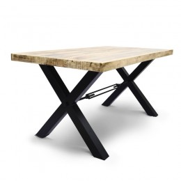 ВААЛОН 2, стол из массива и металла, 1,6 метра