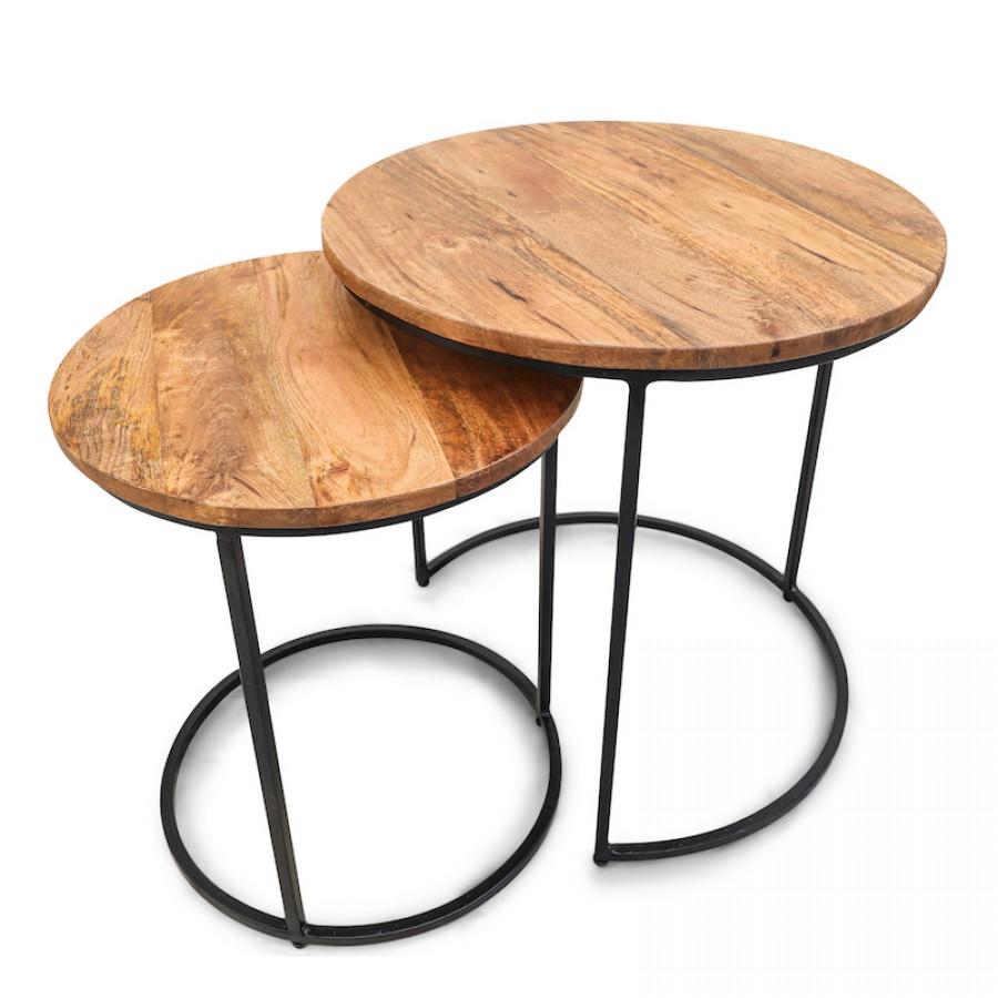 ДЖАММА, комплект столиков из дерева