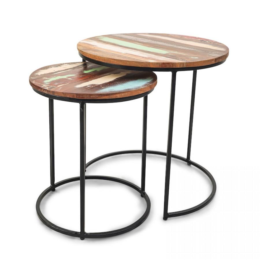 Набор столиков из массива и металла ДЖАММА