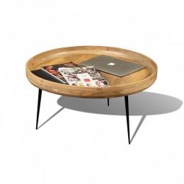 Столик из массива дерева на металлический ножках КОЛАРИ