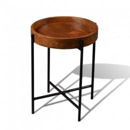 Столик-поднос из массива дерева КЕМИ 2, темный