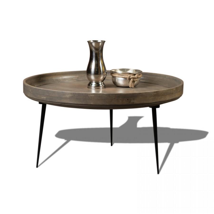 Журнальный стол из дерева и металла КОЛАРИ 2