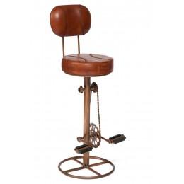 Барный стул со спинкой в лофт стиле THEKKADY