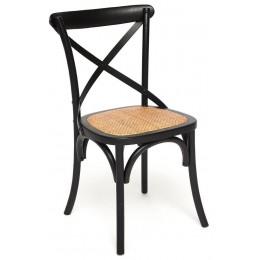 Черный венский стул из массива дерева ВОЛЬТЕРРА