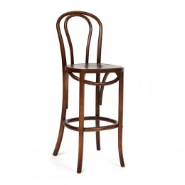 Деревянный барный стул со спинкой ПРАТО