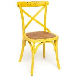 Деревянный дизайнерский стул ВОЛЬТЕРРА, желтый