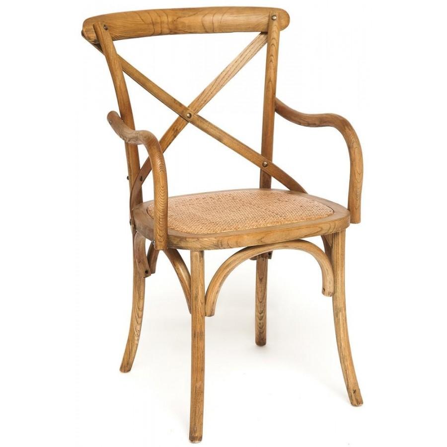 Деревянный стул с подлокотниками КЬЯНТИ