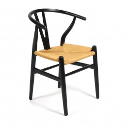 Дизайнерский черный стул из дерева МЭЙЛИ