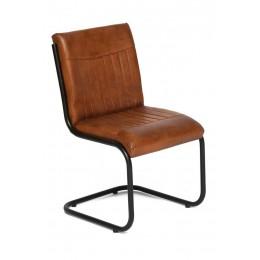 Дизайнерский стул из кожи и металла OSIAN
