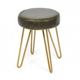 Дизайнерский стул-табурет из кожи JAMBI