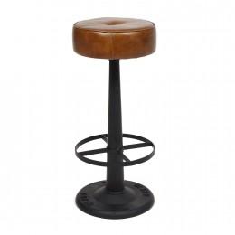 Кожаный барный стул BIHAR