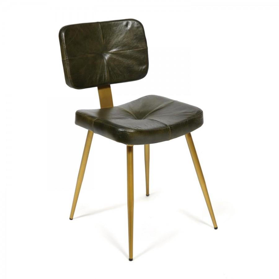 Мягкий кожаный стул Jacob