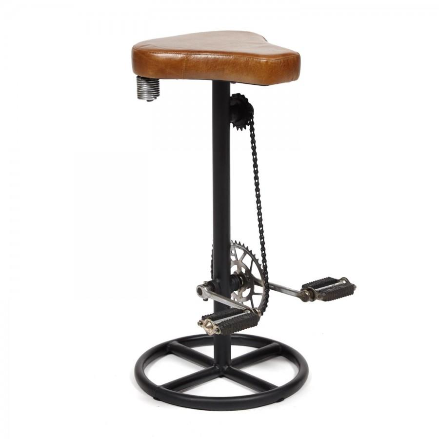 Необычный барный стул в лофт стиле THEKKADY 3
