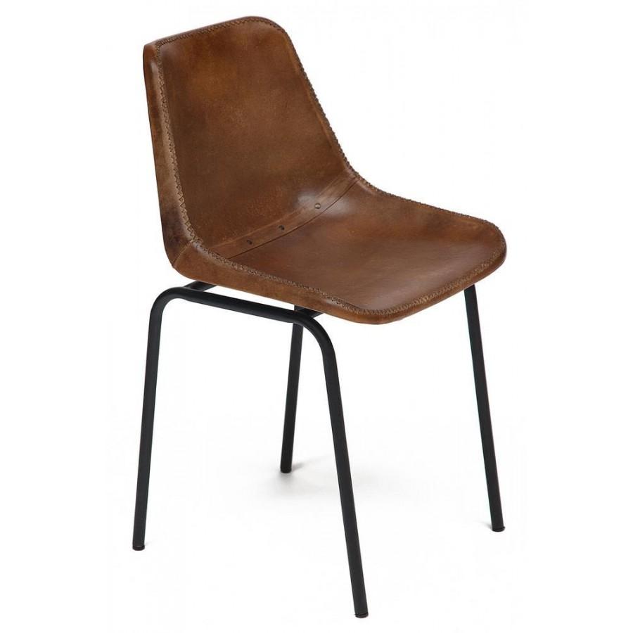 Современный стул из кожи MORBI