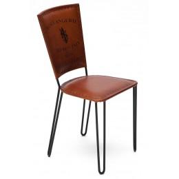 Стильный стул из металла и кожи LUMBINI