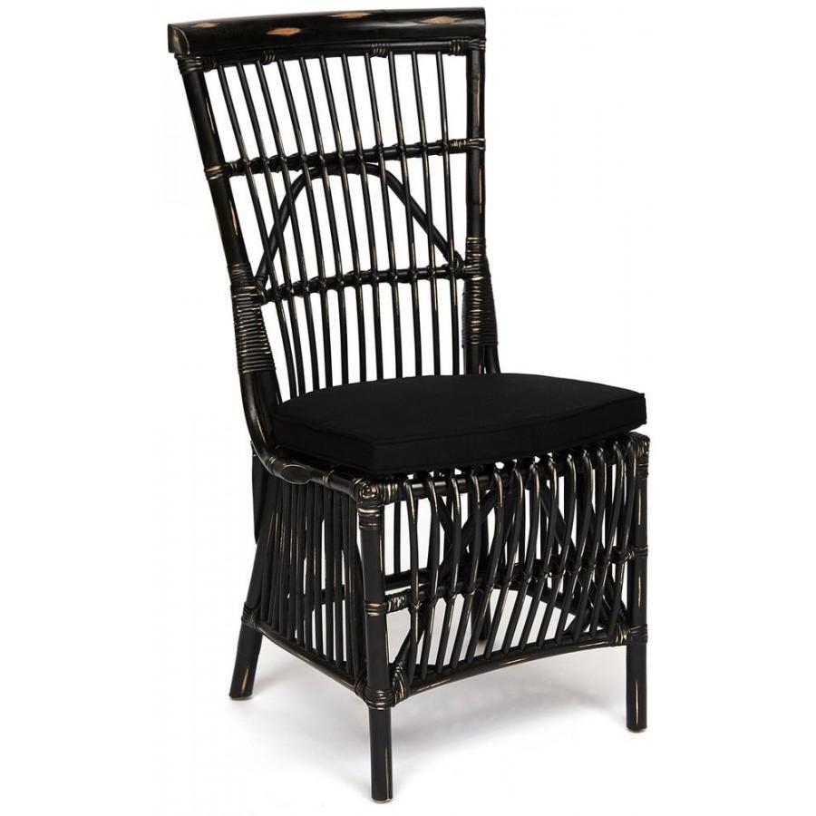 Высокий стул из ротанга ВАРАДЕРО, черный