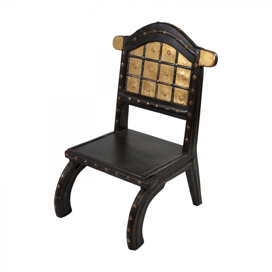 Оригинальный стул из массива палисандра и латуни Sinhaasan I