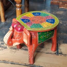 Восточный расписной столик-табурет Слон