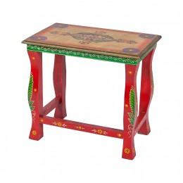 Расписной деревянный табурет из Индии Vichitr, 50 см