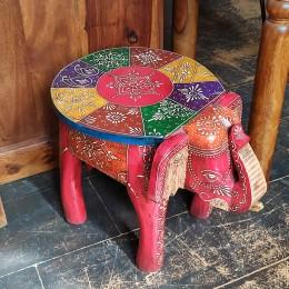 Деревянный маленький табурет-столик Bachcha