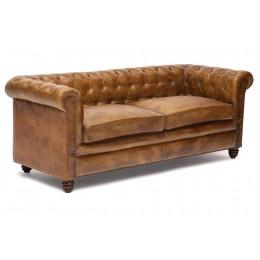 Кожаный диван в классическом стиле Bernard