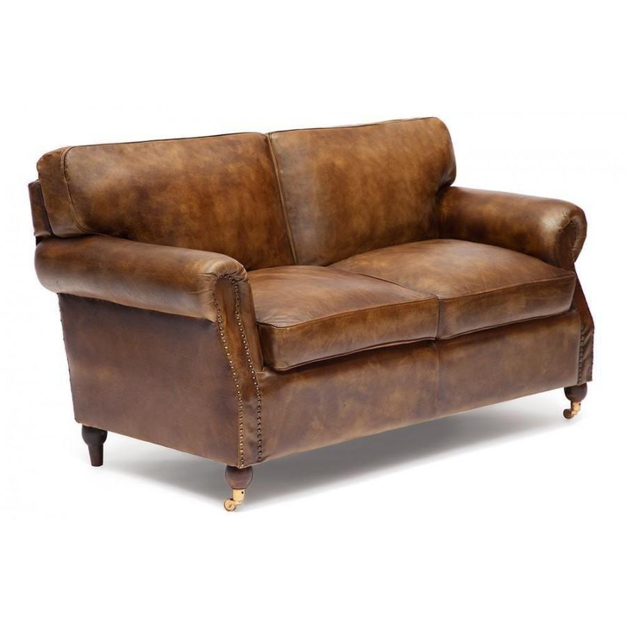 Стильный диван из натуральной кожи Arnold