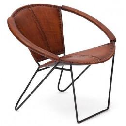 Кожаное кресло в лофт стиле ДАКАР