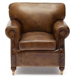 Кресло для дома из натуральной кожи Arnold