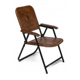 Оригинальное кресло из кожи и металла Alexander