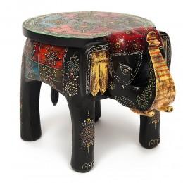 Индийский столик-табурет в виде слона БХАРАТ