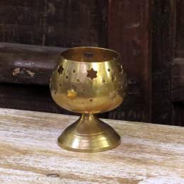 Индийский подсвечник из латуни. Чаша, 10 см