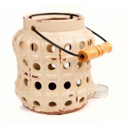 Подсвечник-фонарь из керамики, 15,5 см