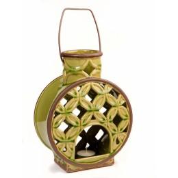 Подсвечник-фонарь из керамики, 23,5 см