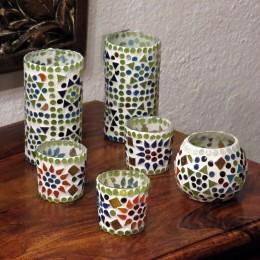Подсвечник из марокканской мозаики (размер в ассортименте)