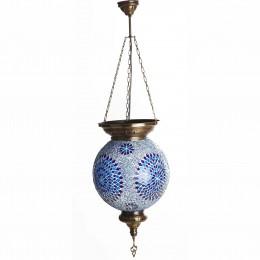 Марокканский светильник из мозаики, голубой