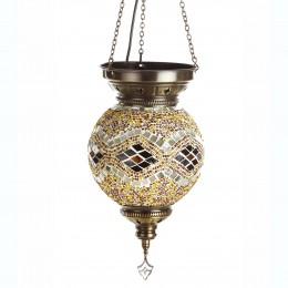 Мозаичная лампа МАРОККО, коричневая